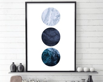Downloadable Print, Minimalist Poster, Minimalist Art, Minimalist Print, Blue, Scandinavian Print, Scandinavian Art, Navy, Printable Art