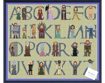 Game of Thrones Alphabet 2 Cross Stitch DIGITAL PDF (pattern only) Season 6