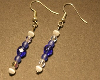 Blue, White and Silver Earrings!