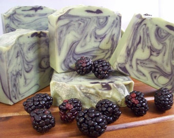 Blackberry Sage Soap, Handmade Soap, Artisan Soap, Angelminks Soap