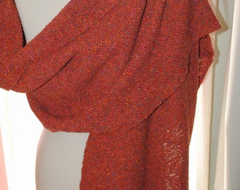 Handwoven silk tweed wrap