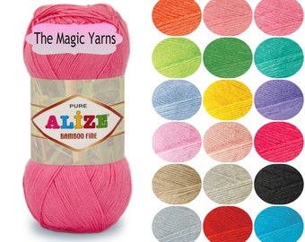 ALIZE BAMBOO FINE yarn, 100% natural, fingering weight, fine, 3-4ply, 16wpi, smooth, soft, pleasant to the touch, with a slight sheen yarn.