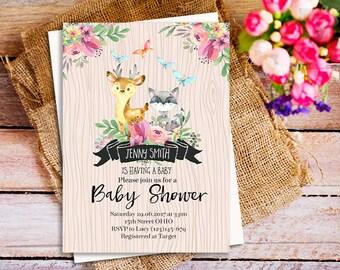 baby shower woodland invitation, woodland birthday invitation, Woodland Baby Shower Invite, Woodland Invitation Printable, woodland invites
