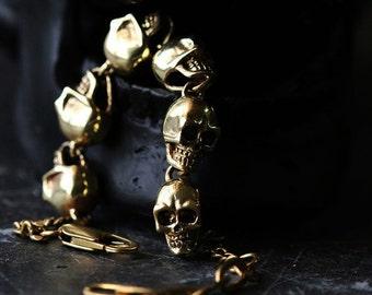 Human Skulls Charm Bracelet - Original design and made by Defy