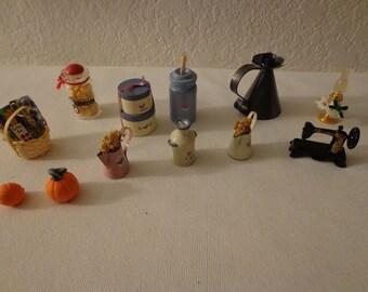 Vintage Miniature Collection - 12 Pieces