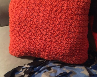 Crocheted Pillow/ready to ship
