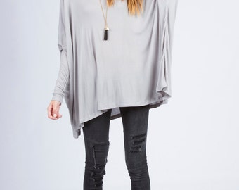 T4074C Long Sleeve Loose Fit Top