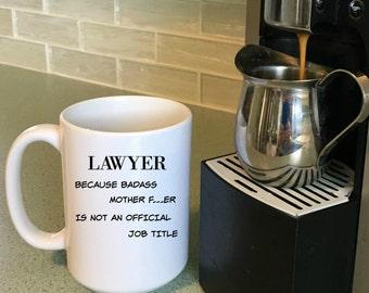 Unique Lawyer Gift, Mugs for Lawyers, Lawyer Mug