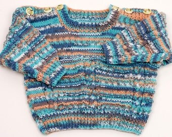 Childs Round Neck Sweater with button shoulders