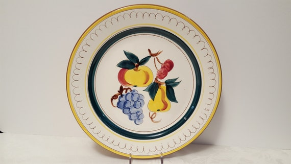 Stangl Fruit 12.5'' Chop Plate #3697