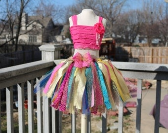 Scrappy tutu outfit. Cake smash tutu. 1st Birthday tutu outfit. Many colors to choose from