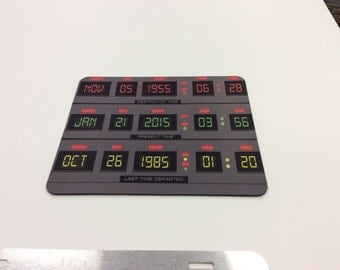 Back To The Future Time Curcit Mouse Pad