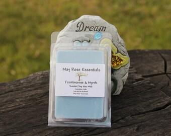 Frankincense & Myrrh scented soy wax melts