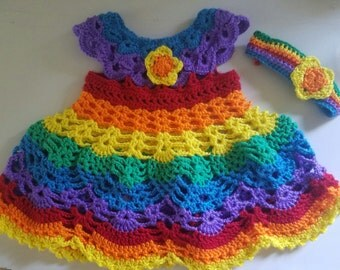 Girls Rainbow Dress Size 2T