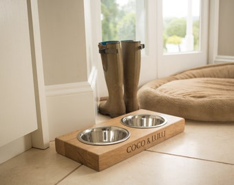 Pet Bowl and Stand, Personalised for your Pet