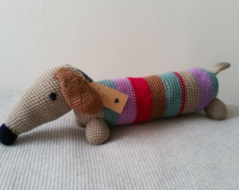 "Crochet Sausage Dog ""Ben"""