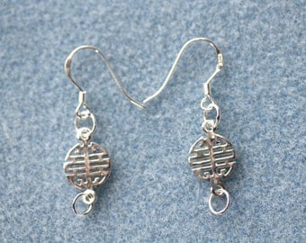Sterling Silver Decorative Ear Wires (Sold in Packs of one or four pairs)