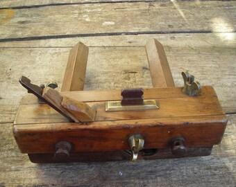 Vintage Rebating Plane.  Old French Carpenter's Tool.