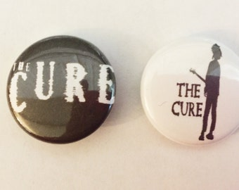 """1"""" The Cure pin back button pair"""