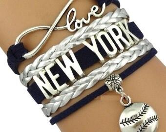 New York Yankee Jewelry- New York Yankees Bracelet- Yankees Charm Bracelet- Perfect Baseball Gift!!!