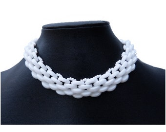 Milk Glass Choker