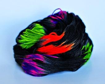 Halloween, Hand Dyed Yarn, Bluefaced Leicester, DK Superwash