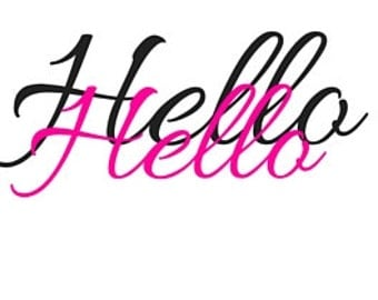 Hello Blank Greeting Card