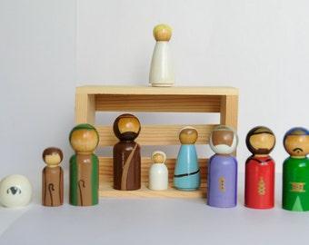 Nativity Peg Doll Set