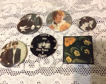 Lot of Beatles and John Lennon Buttons