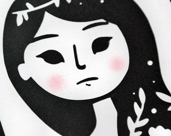 Floral Lady - Paper Cut-Out