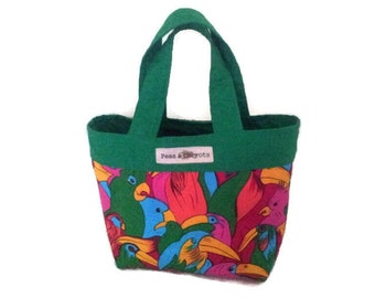 Lunch Bag/Tote, Bird Bag/Tote, Green Lunch Bag/Tote, Childrens Lunch Bag/Tote