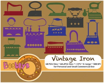 Grunge Vintage Irons For Scrapbooking and Paper Art - Clip Art - Instant Download - Printable DIY