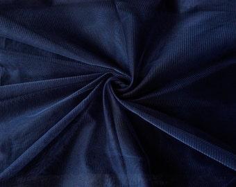 1 yard of Net Fabric, Indian Polyester Fabric, Blue Net Fabric, Bridal Net Fabric