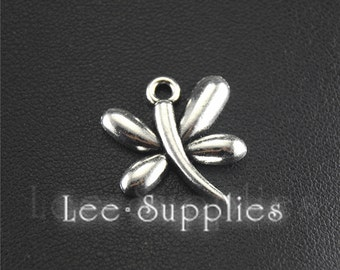 20pcs Antique Silver Alloy Metal Dragonfly Charms Pendant Jewelry Findings A1460