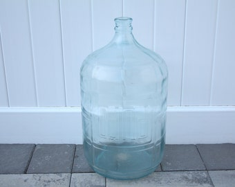 vintage blue 5 gallon water jug embossed raised lettering graphics puro crisa made in mexico bottle - 5 Gallon Water Bottles