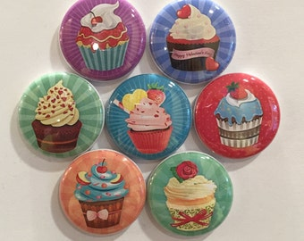 Cupcake Magnets - set of 7