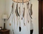 Dreamcatcher Mobile - CUSTOM ORDER - Vintage Doily - Feather - Baby Mobile/Boho decor/Home decor/Wedding Decor/Nursery Decor/Wedding gift