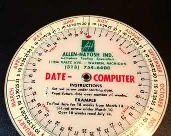 Vintage Date Calculator **FREE SHIPPING**
