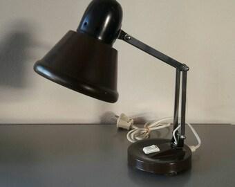 Chocolate Brown Desk Lamp '60