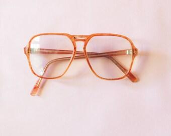 Vintage 1970s Eyewear, Glasses, Big Glasses Nerd Glasses, 1980s, Prop