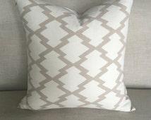 Aztec Throw Pillow | Contemporary Aztec Throw Pillow, Neutral Pillow Cover, Pillow Cover, Throw Pillow, Graphic Pillow, Cotton Canvas Pillow