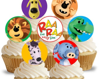 Raa Raa the Noisy Lion Cupcake Toppers / Picks - birthday party favor decor - instant download