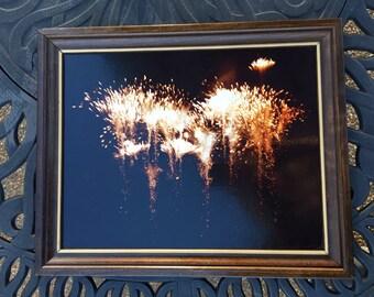 """Vintage Framed """"Fireworks"""" Photo"""