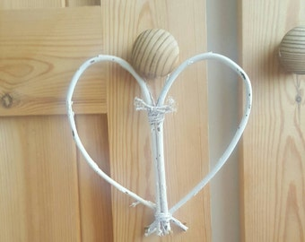 Shabby chic Handmade Willow Heart, Home Decor, Home Decoration, Hanging Heart