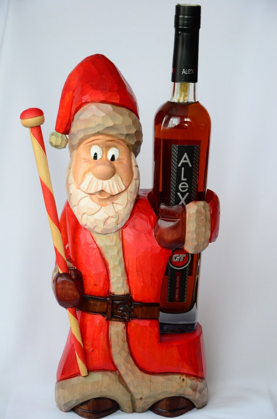 Santa Claus,Wine Bottle Holder,Stand,Christmas and New Year,Decor for Bar and Kitchen