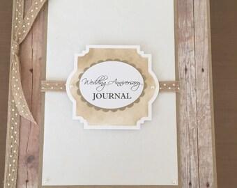 Handmade Wedding Anniversary Journal