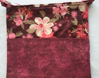 Planner Carryall Bag (Maroon/Pink/Floral)