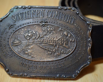 Southern Comfort Whiskey belt buckle. USA. Good used condition from 80s?