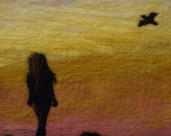 "Felted Wall Art: ""Innocence"""