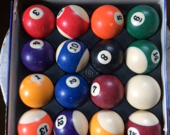 Mizerak P0511 Premium Belgian Phenolic Billiard Balls, Aramith balls, vintage